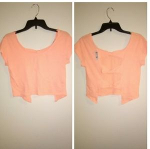 NWT Charlotte Russe crop top open/bow back